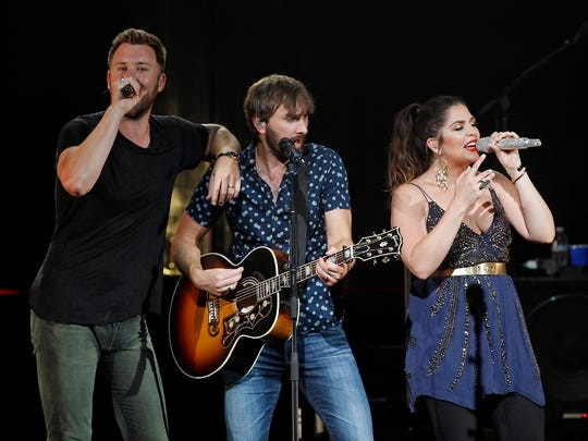 Lady Antebellum performs at Ak-Chin Pavilion in Phoenix