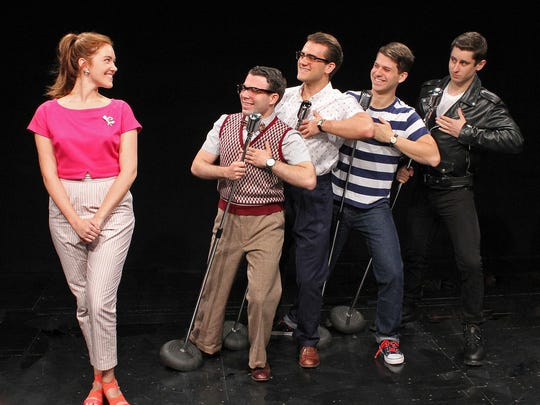 "Cortland Repertory Theatre wraps up its summer season with ""Life Could Be A Dream,"" starring (from left) Sarah Treanor as Lois, Patrick Brady as Eugene, Chris Withers as Wally, Owen Beans as Denny and Corbin Williams as Skip."