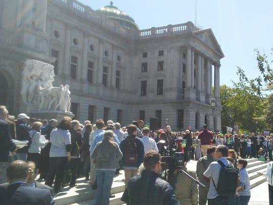 Redistricting/gerrymandering Harrisburg rally