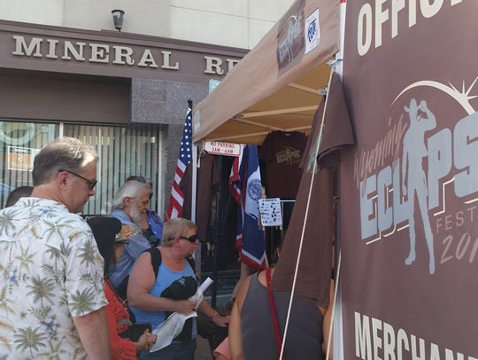 Vendors traveled to Wyoming to sell merchandise at