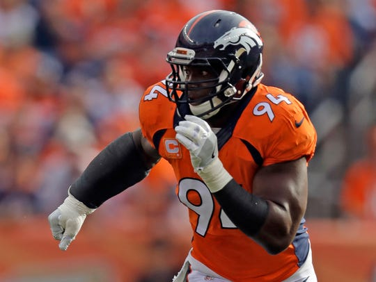 Denver Broncos outside linebacker DeMarcus Ware has