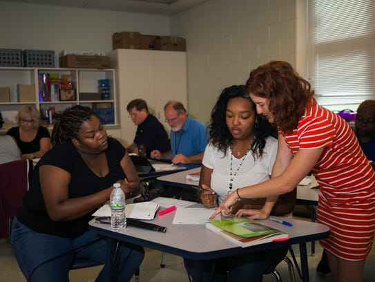 August 2, 2017 - (Left to right) Teachers Candice Eddins,