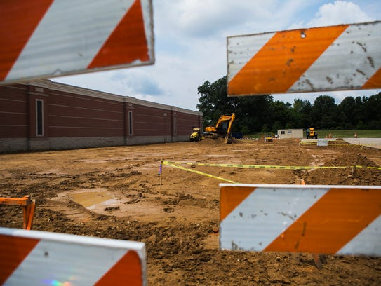 August 4, 2017 - Construction is underway for a new