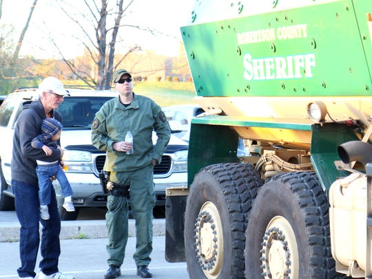 The Robertson County Sheriff's Office brought its armored