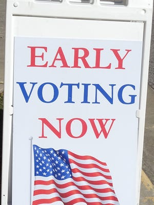 Early voting began Wednesday and runs through Nov. 2 in the Franklin County Clerk's Office. There will be four days of extended hours and three Saturdays for patrons to vote.