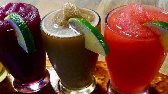 """El Azteca Mexican Restaurant is located on Del. 1's """"Forgotten Mile"""" north of Dewey Beach. All of the eatery's signature frozen margaritas cost $4.99 during happy hour, which runs from 11 a.m. to 7 p.m. daily."""