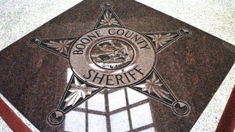 Floor detail in the Boone County Sheriff's Department.