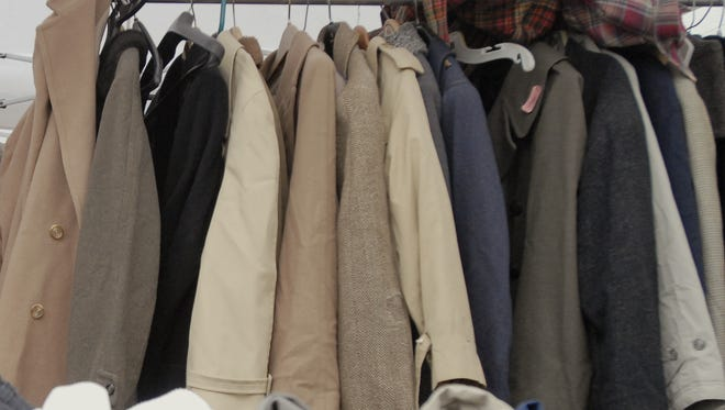 Winter clothing donated for a giveaway.