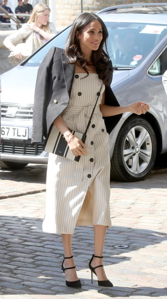 Meghan Markle's stripes are solid.