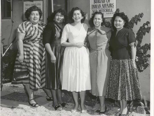 All-Woman Tribal Council in 1955.