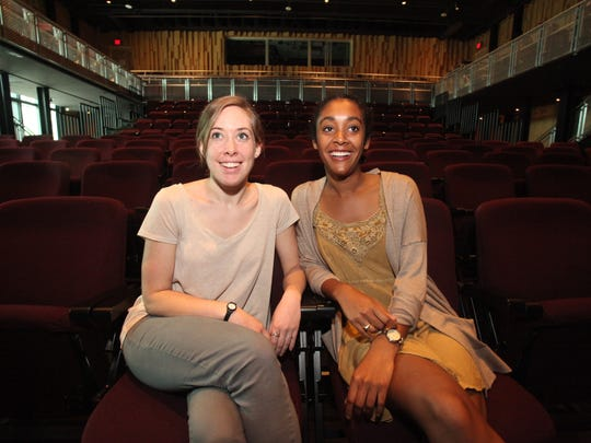 """Aerin Higginbotham, left, and Olivia Chatman at the Acadiana Center for the Arts. Catch performances of """"The Return,"""" an original chamber opera by Shane Courville at the venue Feb. 18-20."""
