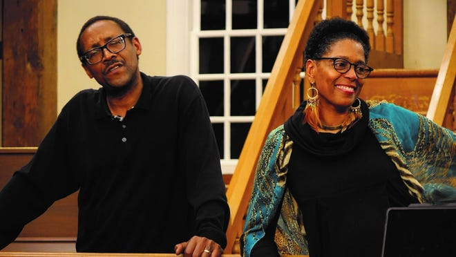 """""""Restoring My African Soul"""" on Saturday night at Cotuit Center for the Arts will be the first in a five-part monthly series of """"Black Lives Matter: A series of consciousness raising events and conversations with Robin and Jim Miller,"""" who are pictured."""
