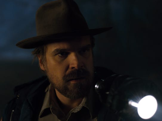 David Harbour stars as police chief Jim Hopper in 'Stranger