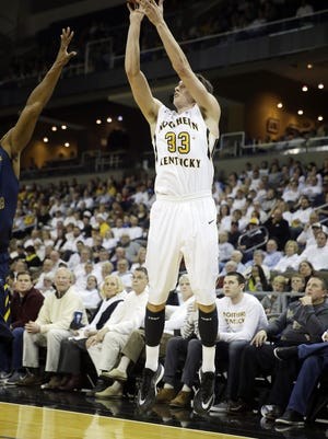 NKU's Anthony Monaco shoots a jumper on Dec. 7.