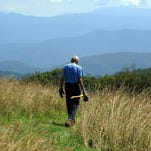 Howard McDonald walks the Appalachian Trail on Max Patch Bald in Madison County. Join the YMCA's Max Patch Family Hike on Sept. 27. It's free, or $5 if carpooling. Contact Blanca Miller at Bmoi735@gmail.com or visit www.ymcawnc.org.