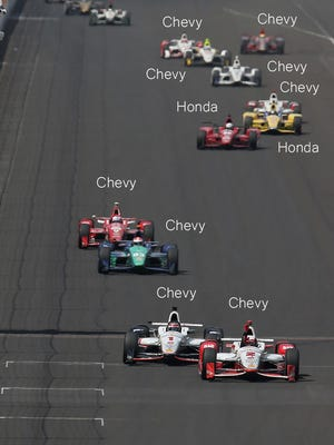 Last year's Indy 500 finish was Chevy-heavy.