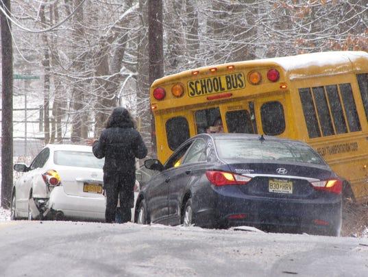 Schools bus crash in Chestnut Ridge