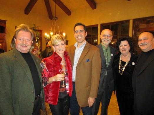 Cameron Foreman, Dana and Michael Topham, Mona Burris