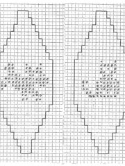 If you knit four of either of these graphs together in the round, you will make a pets Christmas ball.
