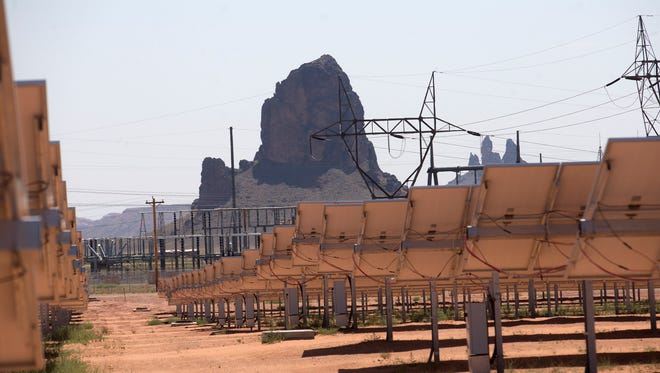 Is renewable energy a liberal issue only? Not according to one Midwest group that thinks wind projects and solar forms like the Kayenta Solar Project facility, seen here in Kayenta, Arizona, fit well in the conservative political agenda..
