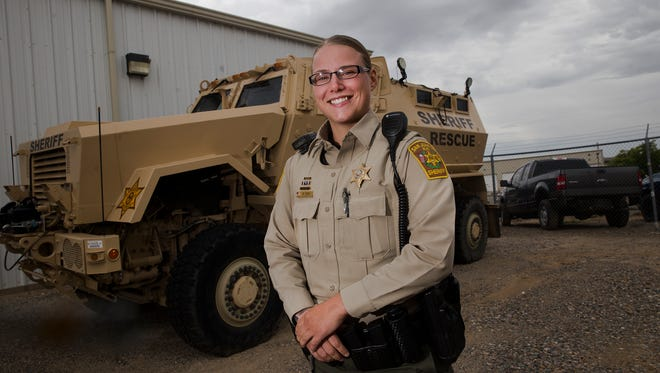 San Juan County Sheriff's Office Deputy Robyn Roe recently became the first female SWAT operator for the department.