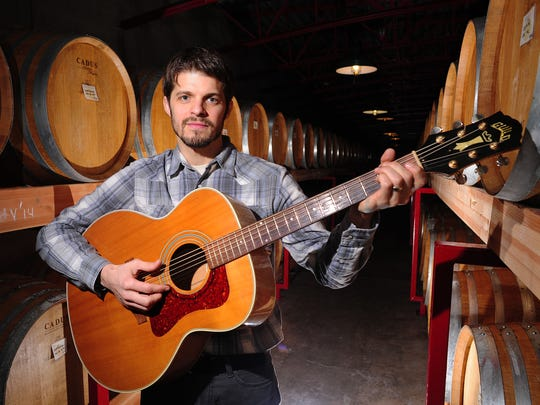 Musician Rich Swanger is the assistant winemaker at St. Innocent Winery.