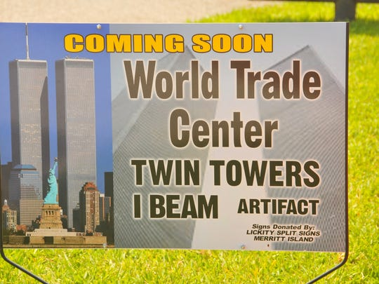 A beam from the World Trade Center  labeled Artifact