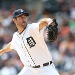 455437942.jpg DETROIT, MI - SEPTEMBER 14:  Justin Verlander #35 of the Detroit Tigers pitches in the first inning of the game against the Cleveland Indians at Comerica Park on September 14, 2014 in Detroit, Michigan.  (Photo by Leon Halip/Getty Images)