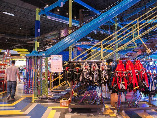 The Gravity Ropes Course. The new entertainment facility,