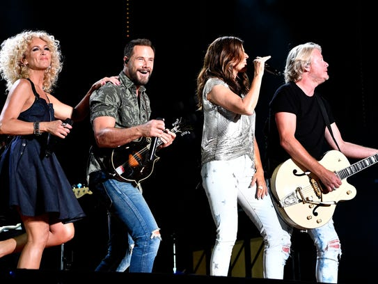 Little Big Town performs at Nissan Stadium during the