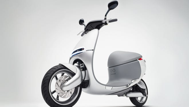 This scooter produces zero greenhouse emissions.