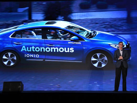 At ces 2017 the frenzy over self driving cars is palpable for Hyundai motor company usa