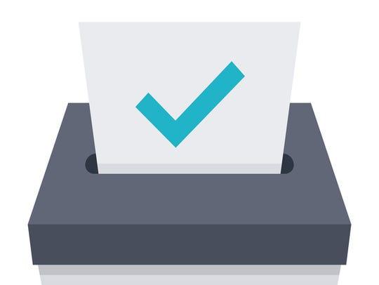 Election concept with ballot box.