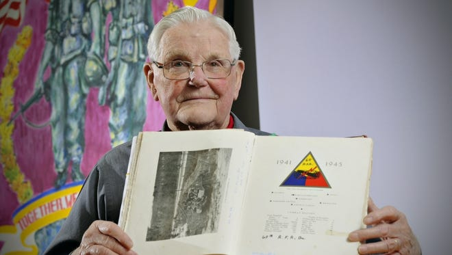 Bud Molin came ashore at Utah Beach with the 65th Armored Field Artillery Battalion, which was the first artillery unit to land in France on D-Day.
