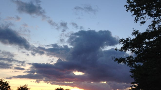 Sunset in Neptune, N.J., on May 31, 2014