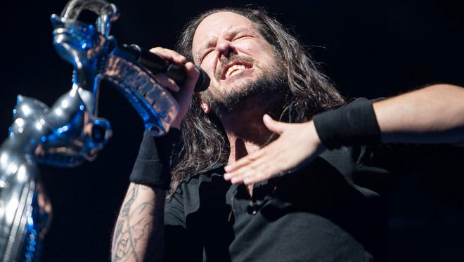 Korn performs at Ak-Chin Pavilion on Friday, July 11, 2014.