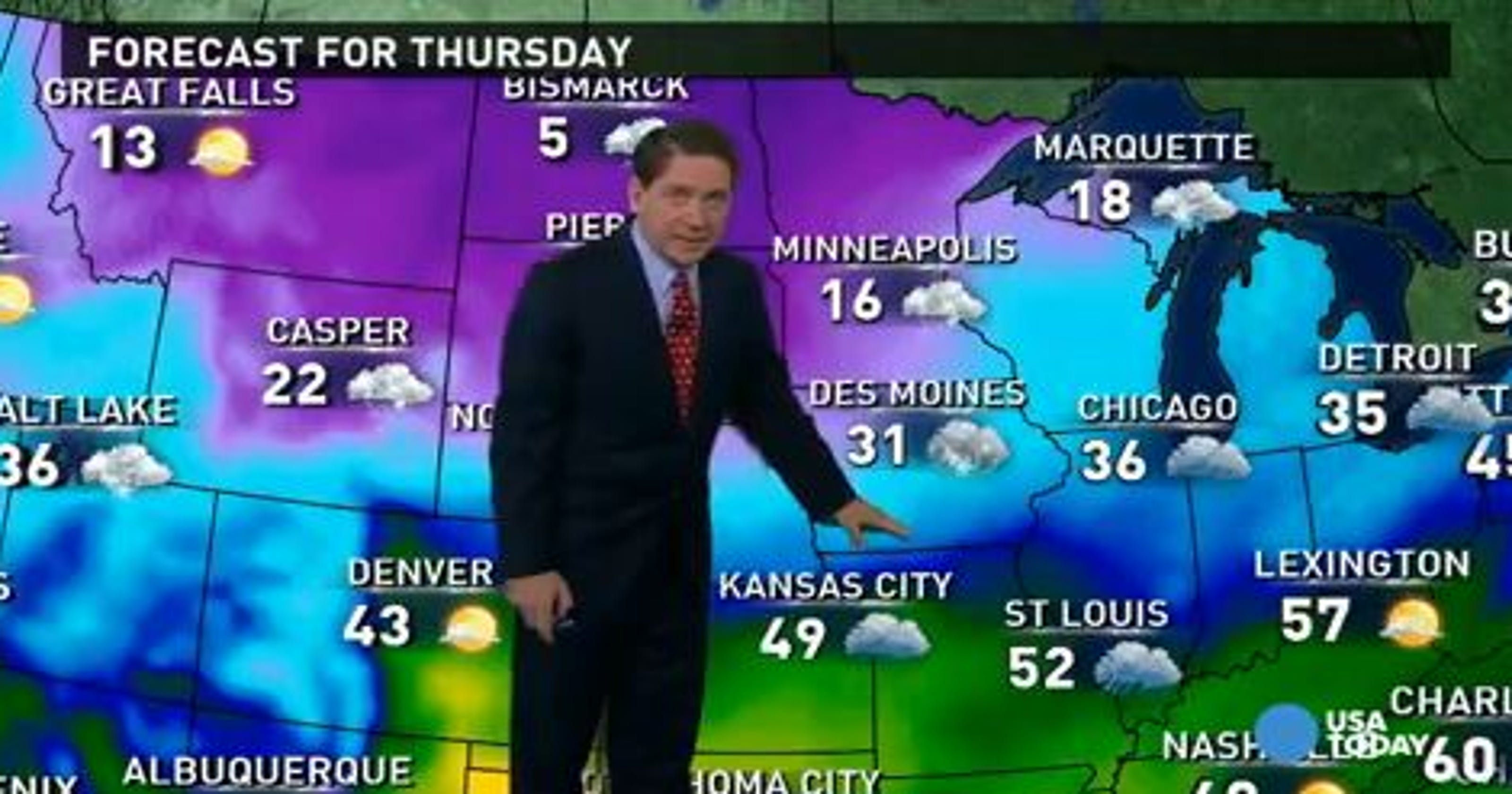 Thursday's forecast: Another helping of snow