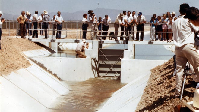 The Central Arizona Project delivers its first drops of water in 1985 to the Harquahala Irrigation District. ASU estimates that CAP has generated at least $1 trillion of economic activity.