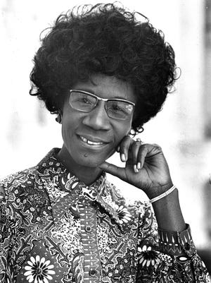 Congresswoman Shirley Chisholm, D-N.Y., is seen in this 1971 file photo. Chisholm, the first black woman elected to Congress and an outspoken advocate for women and minorities during seven terms in the House, died, Jan. 1, 2005, a friend said. She was 80.