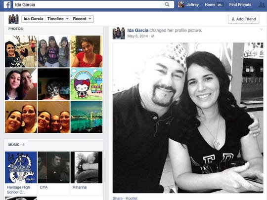 This Facebook screen grab shows Jose Garcia Rodriguez with wife Ida Garcia.