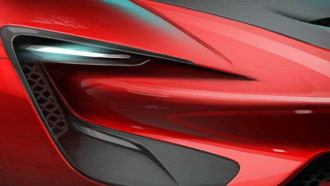 The SRT Tomahawk Vision Gran Turismo, a single-seat hybrid powertrain concept vehicle, to be released exclusively in Gran Turismo 6.