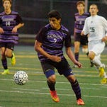 Bloomfield Hills sophomore Victor Silva (2) netted the game-winning goal with just two minutes left in the second half Thursday in a 2-1 victory over host Birmingham Groves.