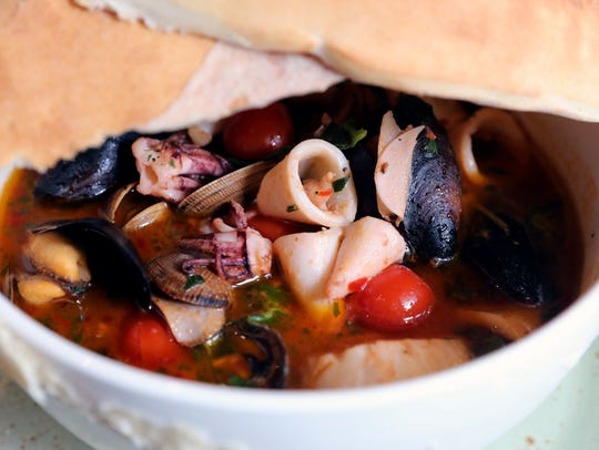 The Zuppa di Pesce at Rafele Rye on Purchase Street