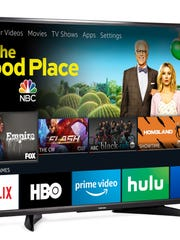 An Amazon Fire TV Edition television set.
