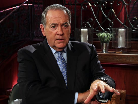 Mike Huckabee at the Trinity Broadcasting Network campus in Hendersonville on Oct. 2, 2017