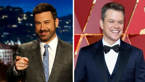 We'd be careful pointing fingers, Kimmel.