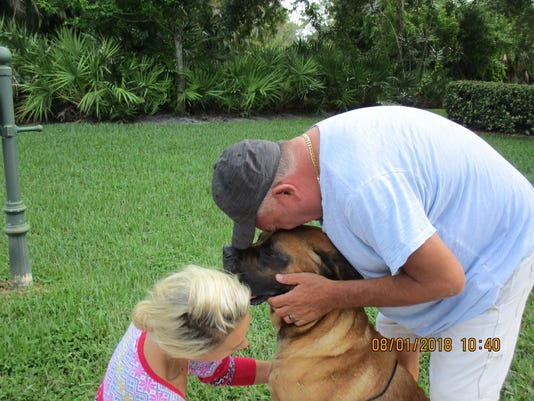 A Port St. Lucie family was reunited with their dog, Tiny, this morning after the dog was missing for three weeks.
