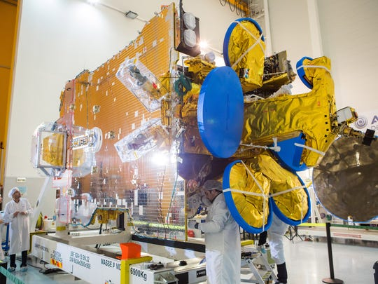 The SES-10 commercial communications satellite. Airbus