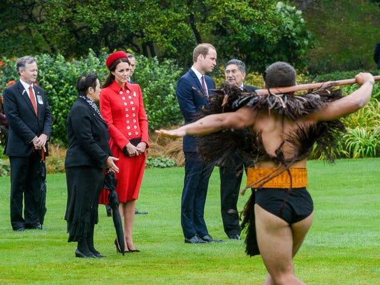 Maori warrior's dance