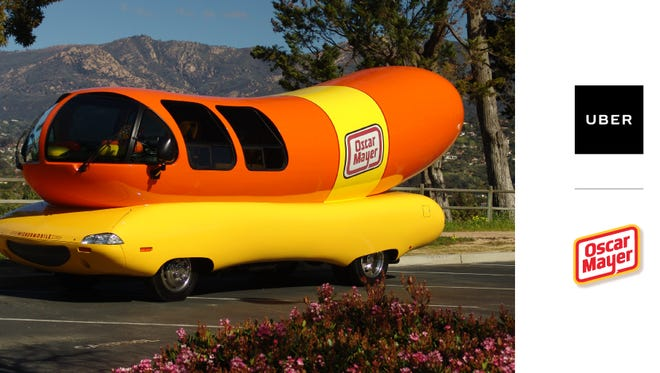 Uber users can request the Wienermobile tomorrow in Scottsdale and Tempe, and receive free hot dogs.